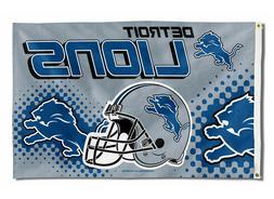 DETROIT LIONS FLAG 3'X5' NFL TEAM HELMET BANNER: FREE SHIPPI