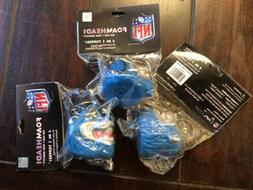 Lot Of 3 Detroit Lions NFL Foamhead Keychain / Antenna Toppe